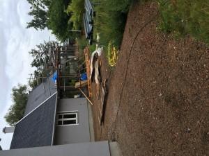 Terrass trä & sandsten. Före...
